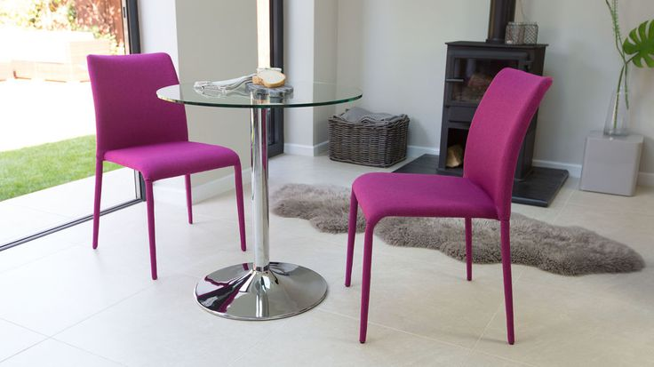 Pink Fabric Dining Chairs