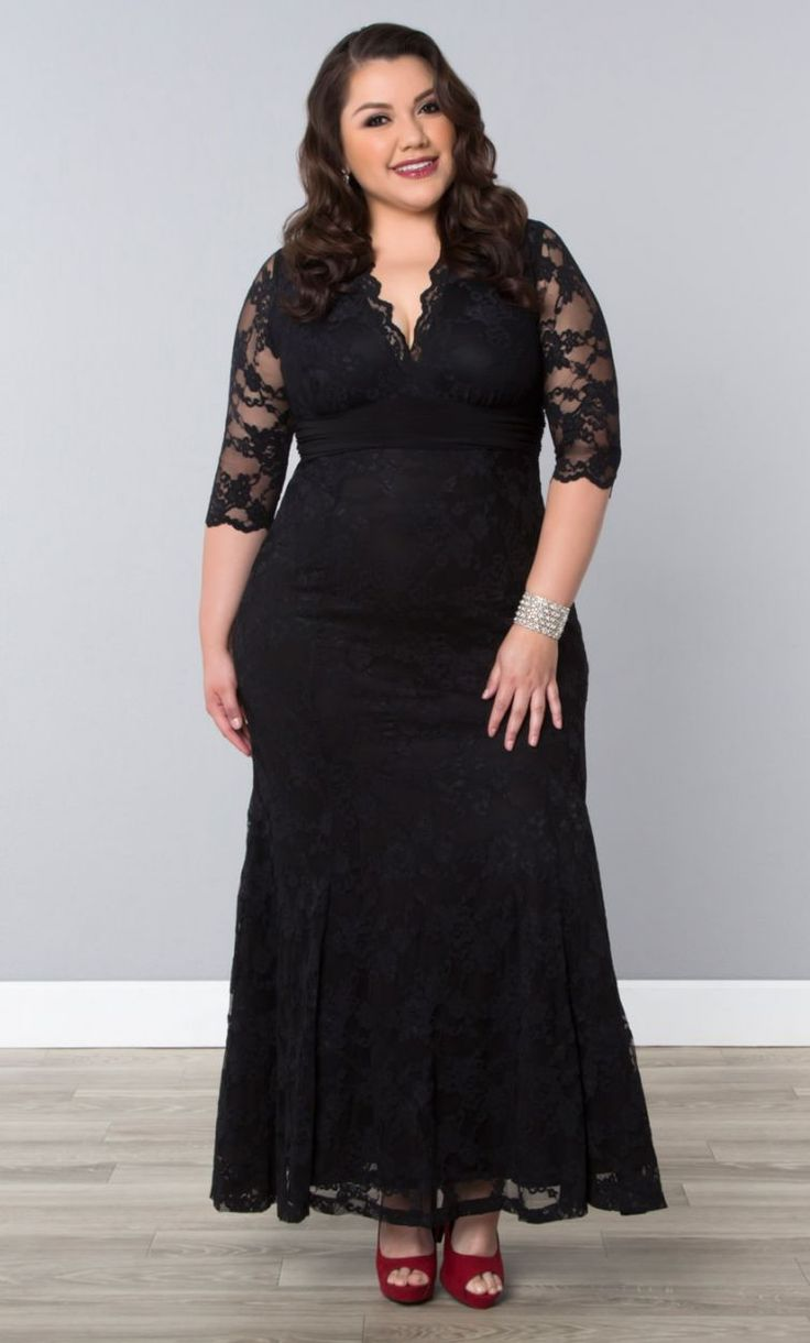 Plus Size Formal Lace Dress | Special Occasion Dress | Plus Size Clothing | Curvalicious Clothes Sizes 0X-5X
