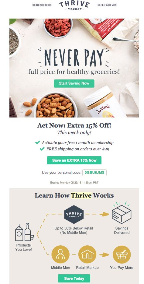 Thrive Prospect Email