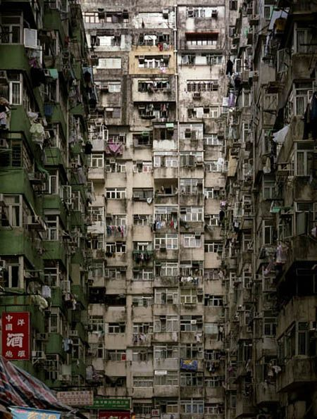 Hong Kong Architecture Photography by the German-born photographer Michael Wolf. He documents the extreme densities of Hong Kong.