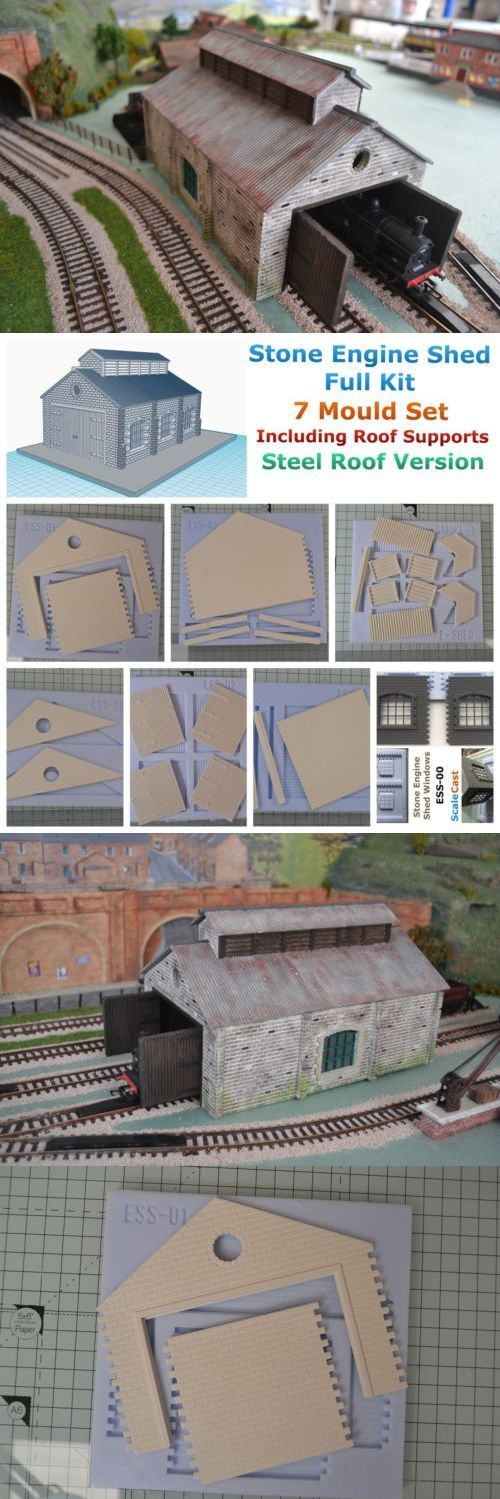 Buildings Tunnels and Bridges 69818: Linka Compatible Engine Shed Full Kit - Stone - Corrugated Steel Roof - 00 Gauge -> BUY IT NOW ONLY: $45 on eBay!