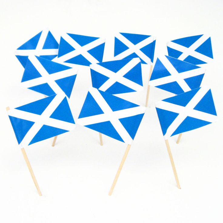 Scottish Flag Toothpicks | Scotland | St Andrews Cross | Theme Party Decorations