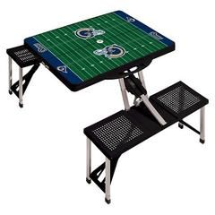 NFL Portable Picnic Table with Sports Field Design by Picnic Time - Black