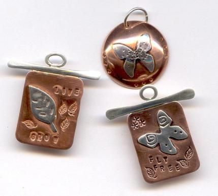 Soldering copper silver pendant dijes pinterest for How to solder copper jewelry