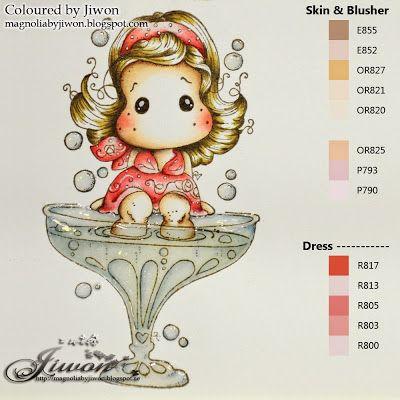 Jiwon's Magnolia Blog: Coloured ..... Le Plume Markers