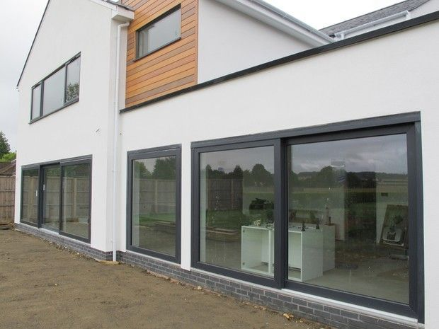 Image result for bungalow monocouche render with grey windows