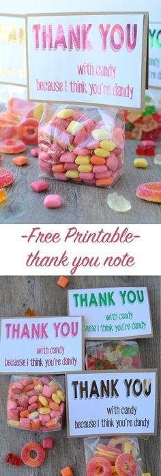 free printable thank you note | http://NoBiggie.net #hsminc #foilallthethings