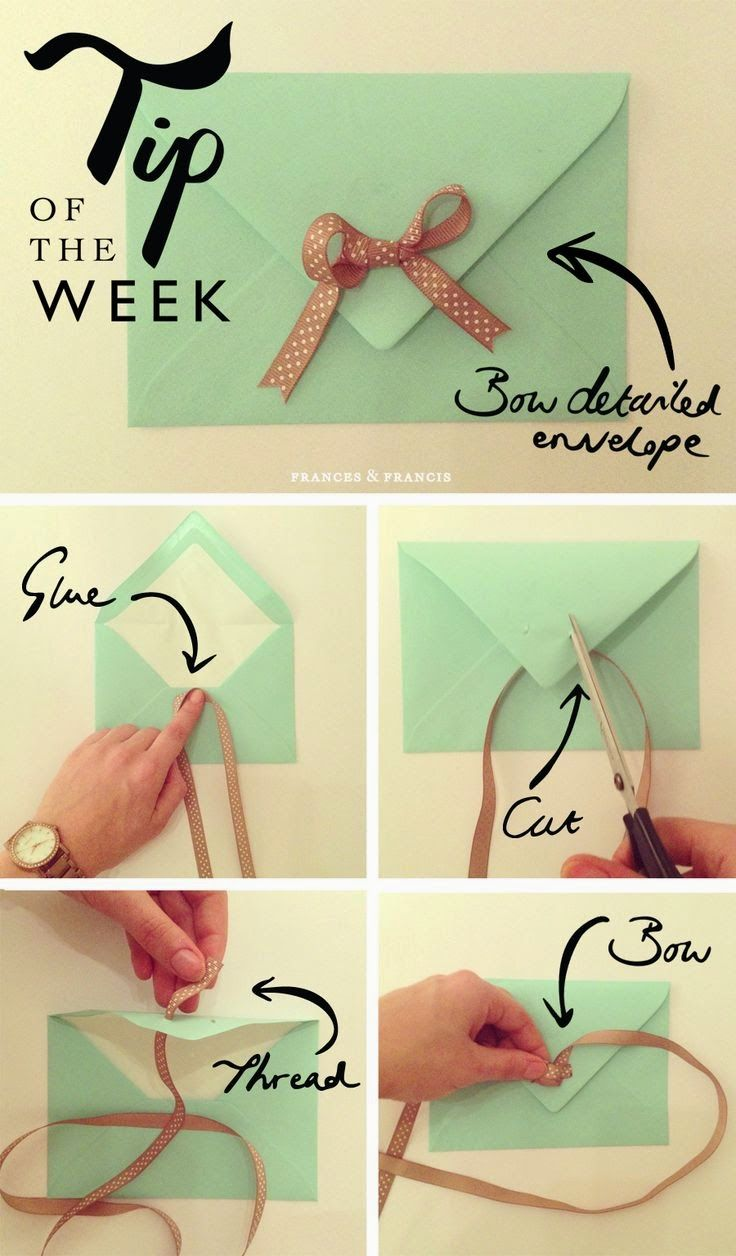 Simple but Cute Heart Envelope Ideas
