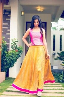 Twin Colour Ghagra Set  Rs. 7,279