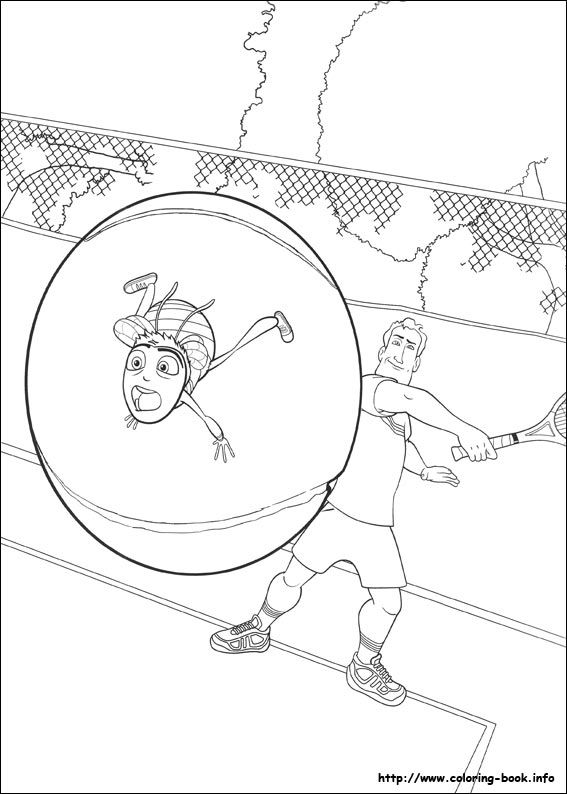 Bee Movie Coloring Page 6 Is A From BookLet Your Children Express Their Imagination When They Color The