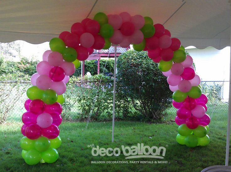 Adorable flower balloon arch.