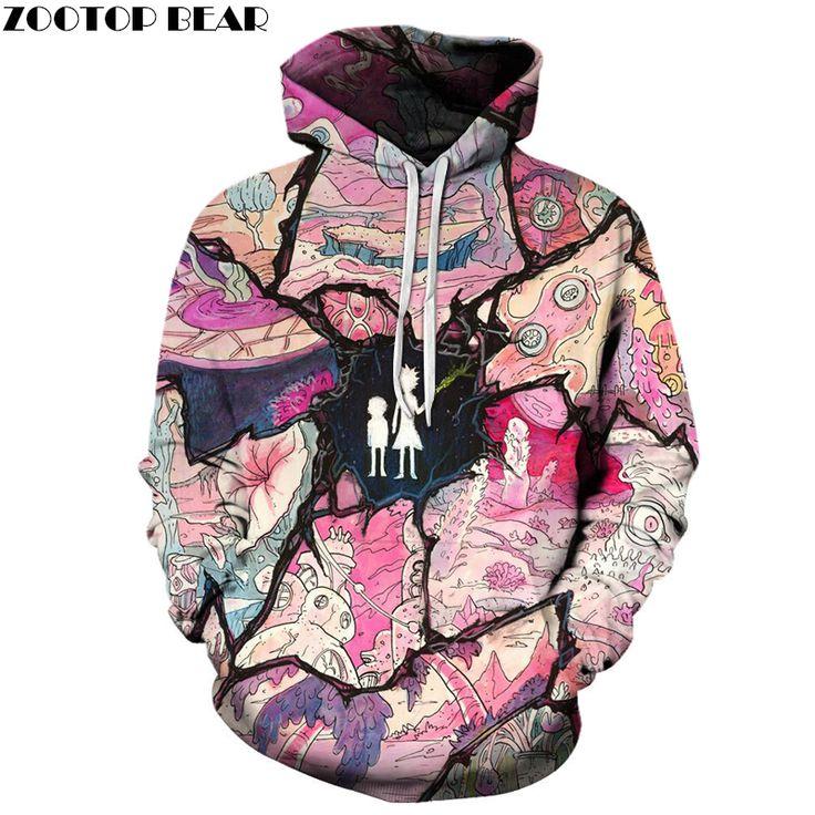 Adventure Rick Morty Hoodies Men New Sportswear 3D Printed Pullover //Price: $13.85 & FREE Shipping //     3dsweatshirt