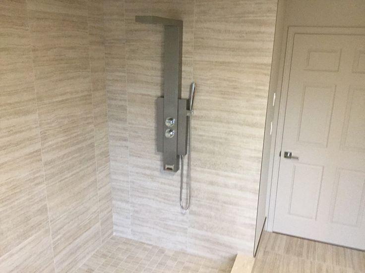look, no shower door