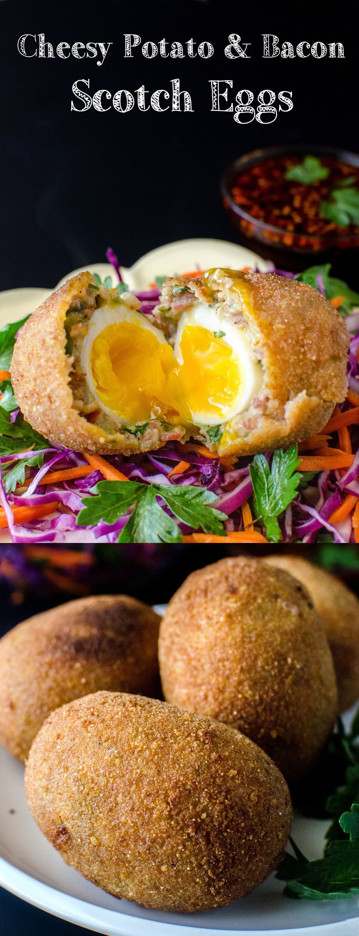 Cheesy Potato & Bacon Scotch Eggs. Make your Scotch eggs extra special ...