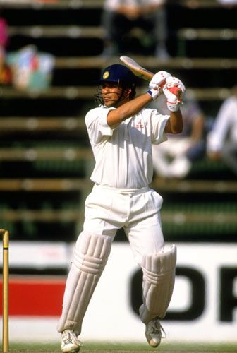 Tendulkar became the youngest player to reach 1000 Test runs during the second Test against South Africa in Johannesburg in November 1992