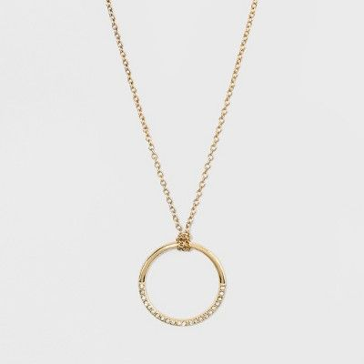 SUGARFIX by BaubleBar Crystal Circular Pendant Necklace