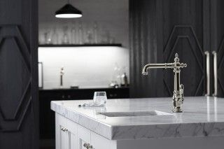 Artifacts® cabinet knob     Strive® bar sink     Artifacts Victorian bar faucet     This Victorian-influenced prep faucet combines the charm of a bar faucet with the ease of single-handle control.