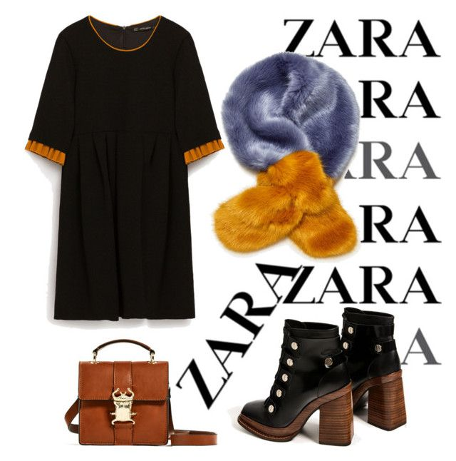 """zara fall outfit"" by janesmiley ❤ liked on Polyvore featuring Zara, Sola and Novo"