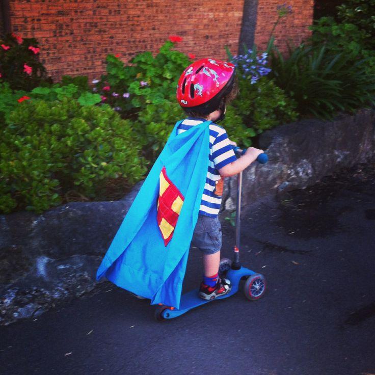 My little super hero...