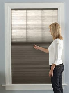 Transformations™ combines a Light Filtering fabric with a Room Darkening fabric to give you optimal thermal insulation.  can be cordless