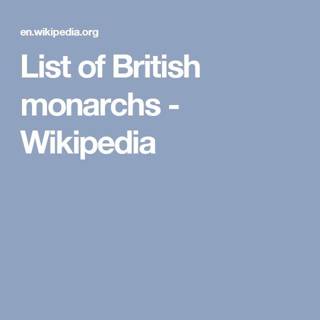 List of British monarchs - Wikipedia