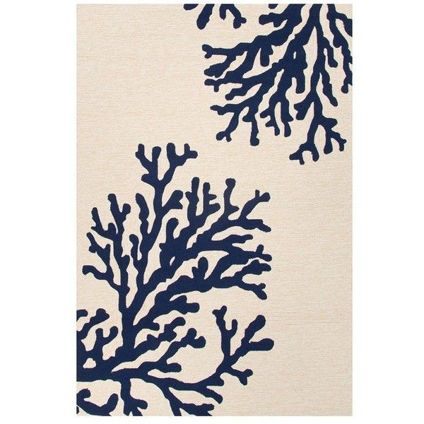 Jaipur 'Grant Coastal' Rug ($99) ❤ liked on Polyvore featuring home, rugs, coastal themed rugs, stain resistant rugs, coastal style rugs, coastal rugs and jaipur rugs