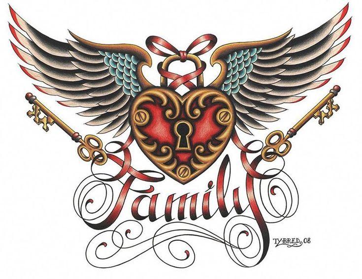 Details about family by tyler bredeweg tattoo art print