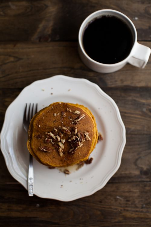 Pumpkin Brown Butter Pecan Pancakes | Recipe