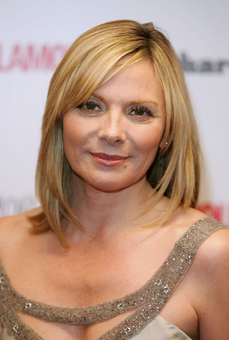 Kim Victoria Cattrall Bob Cut Hair