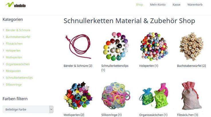#Molodolo Online-Shop für hochwertiges #Schnullerketten Material