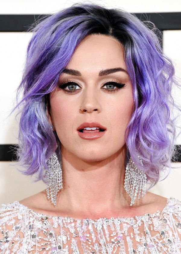 Katy Perry Beauty Purple Hair