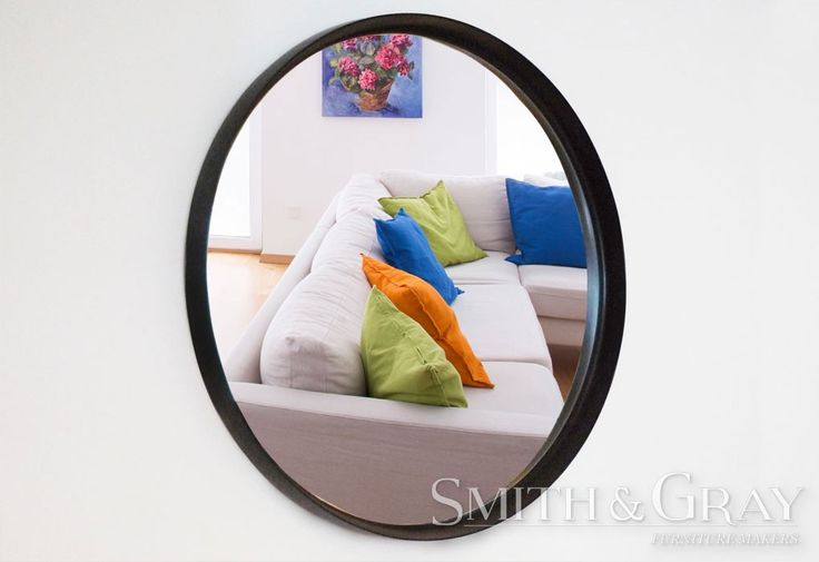 Round custom solid wenge mirror frame by Smith and Gray Furniture Makers. Brisbane Australia based Furniture Makers. See More at: www.smithandgray.com.au