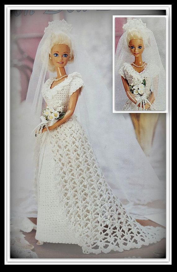 Crochet Doll Dress Potholder Pattern : 1000+ images about Barbie wedding on Pinterest View ...