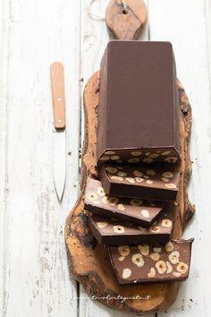 Chocolate Hazelnut Torrone by tavolartegusta #Torrone #Chocolate #Hazelnut