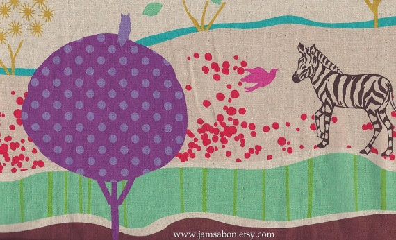 ECHINO by Etsuko Furuya  Border print Grassy Plain  by JamsaBon,