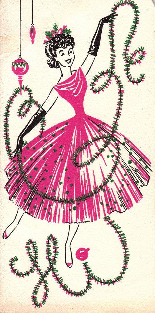 Vintage 1960s Christmas Greetings Card