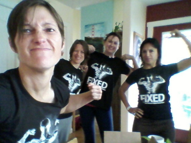 Fixed fans showing off their new Fixed t-shirts!