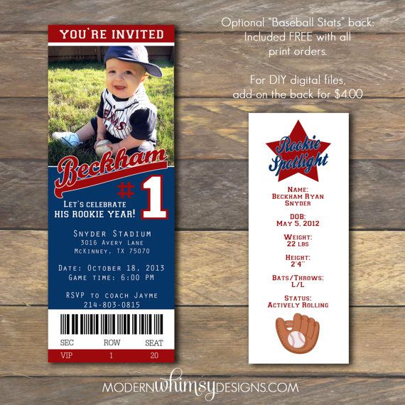 122 best Baseball party images – Baseball First Birthday Invitations