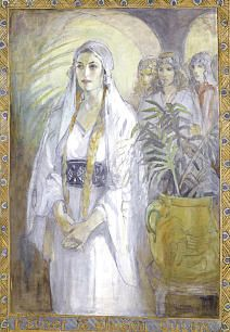 Queen Esther by Minerva Teichert--I love Teichert's work! And her story...: Queen Esther