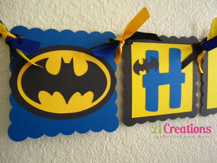 Batman Birthday Banner. I can make this.