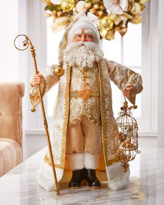 Golden St. Nicholas Heirloom Statue by Christopher Radko at Horchow