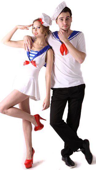 Новогодний костюм для взрослых - Моряк и морячка