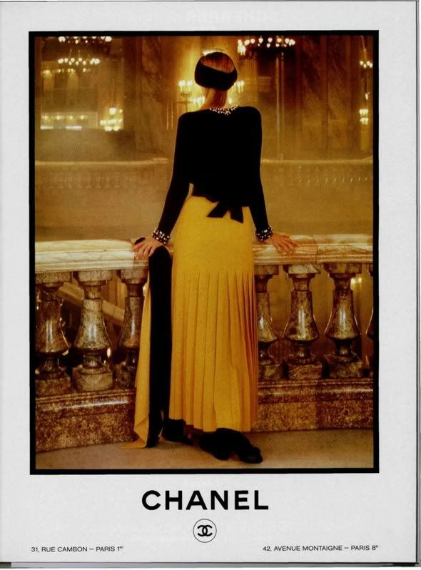 Chanel Vintage ad of the 1980s ( VIP Fashion Australia www.vipfashionaustralia.com - international clothing store )