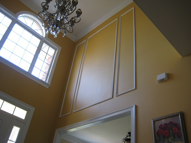 Winscotting in foyer