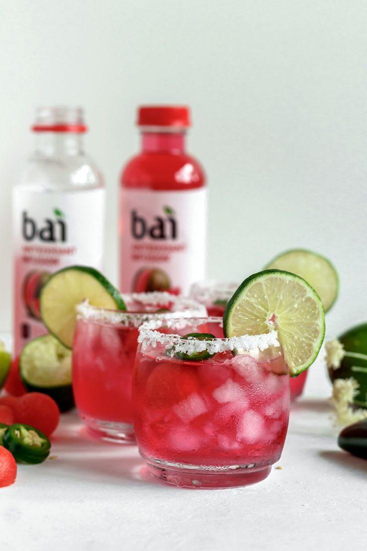 Skinny Jalapeño Watermelon Margaritas Recipe