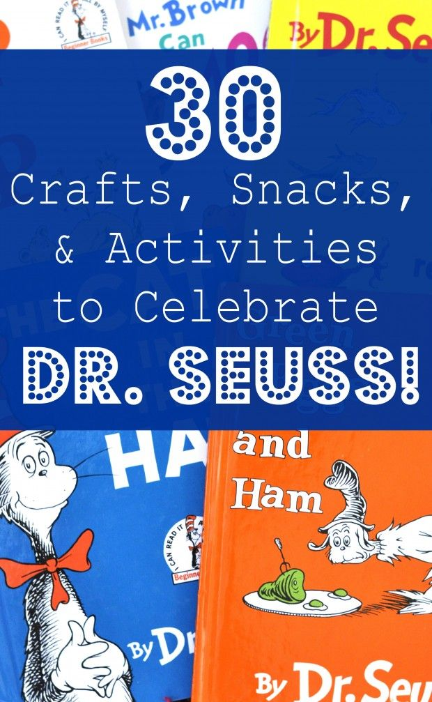 30 Ideas for a Dr. Seuss Theme: Crafts, Activities, and Snacks from Motherhood on a Dime