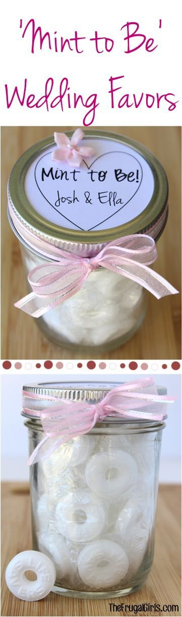 Mint to Be Wedding Favors! ~  at TheFrugalGirls.com ~ this fun DIY Wedding Gift in a Jar makes the perfect little favor for your guests!