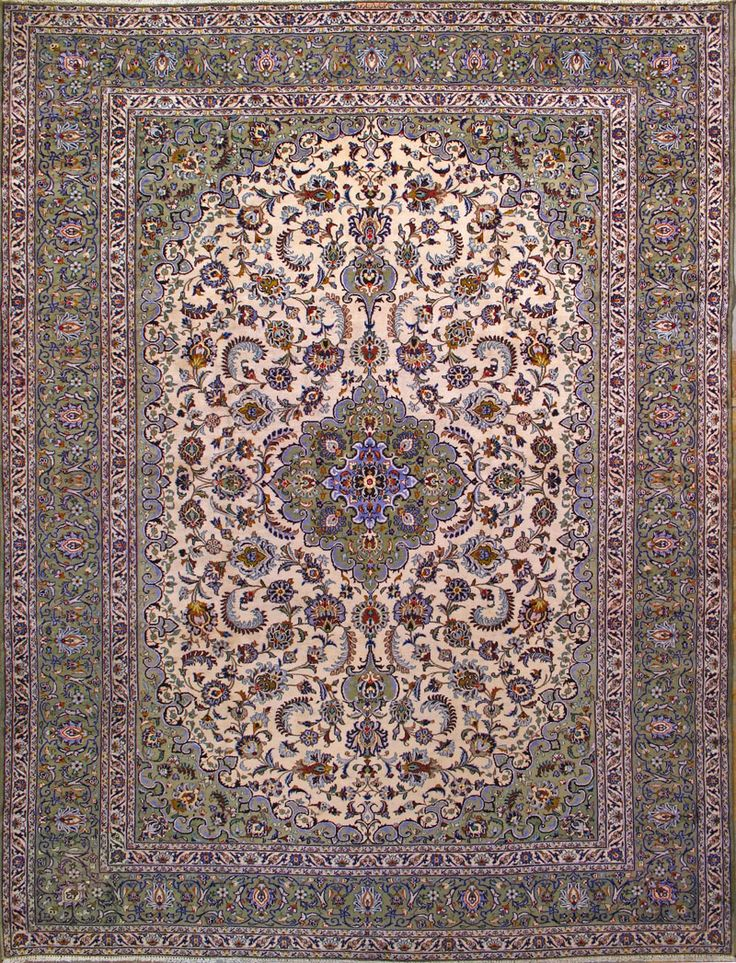 "Buy Kashan Persian Rug 10' 3"" x 13' 7"", Authentic Kashan"