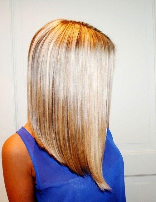 Angled hair cut idea!