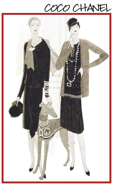 artdeco.quenalbertini: 1927 Coco Chanel Vogue Cover